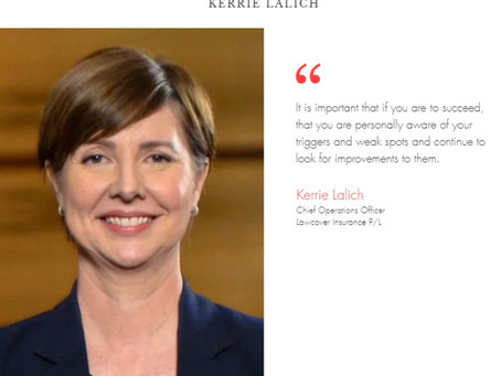 """WiRE presents """"Inspiring Leaders Series"""" – an interview with Ms Kerrie Lalich, Lawcover Ins P/L"""