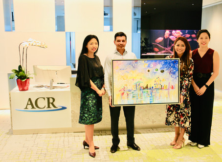 "HANDOVER OF WiRE'S ""Singapore Skyline"" PAINTING TO ASIA CAPITAL RE  (ACR)"