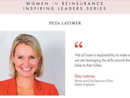 """WiRE presents """"Inspiring Leaders Series"""" – an interview with Peta Latimer, Mercer Singapore"""