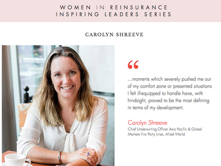 """WiRE presents """"Inspiring Leaders Series"""" – an interview with Carolyn Shreeve, Allied World"""