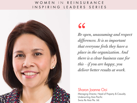 """WiRE presents """"Inspiring Leaders Series"""" – an interview with Ms. Sharon Joanne Ooi, Swiss Re"""