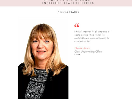 """WiRE presents """"Inspiring Leaders Series"""" – an interview with Ms Nicola Stacey, Chaucer"""