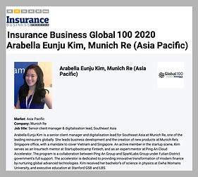 Insurance Business Global 100 - Arabella