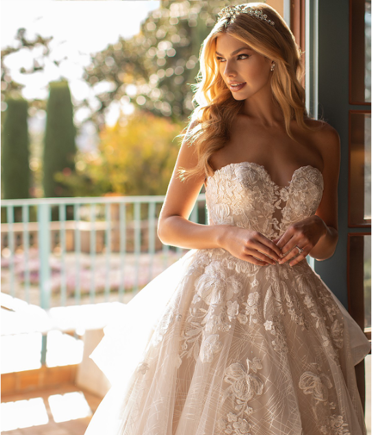 Style J6797  SIZES 2-28  FABRIC Net/ Embroidered Lace Appliques  SHOWN IN Ivory / Latte  AVAILABLE COLORS Ivory/ Latte, Ivory/ Ivory