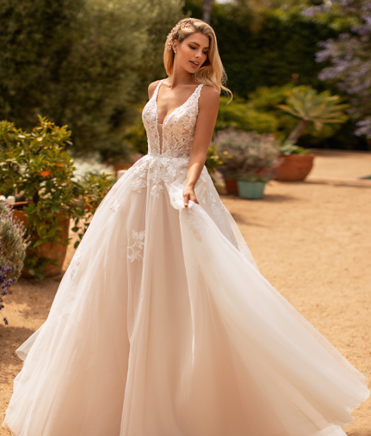 Style J6778   SIZES 2-28  FABRIC Tulle/Sparkle tulle  SHOWN IN Ivory / Taupe / Rose  AVAILABLE COLORS Ivory/Taupe/Rose, Ivory/Ivory/Ivory, White/White/White