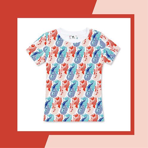Hi Merlion Adult T-shirt