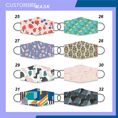 Multi Prints - Personalized Cloth Face Mask (Pack of 2 / Pack of 3)