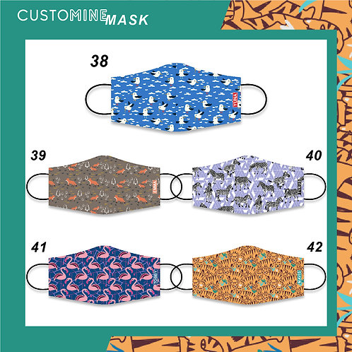 Wild Safari- Personalized Cloth Face Mask (Pack of 2 / Pack of 3)