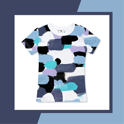 Blue Pastel Paint  - Adult T-shirt