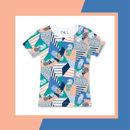 Merlion Silhouette Papercutting  Adult T-shirt