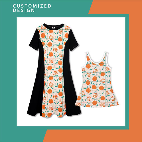 Full Mandarin Orange - Dresses for Mama & Daughter