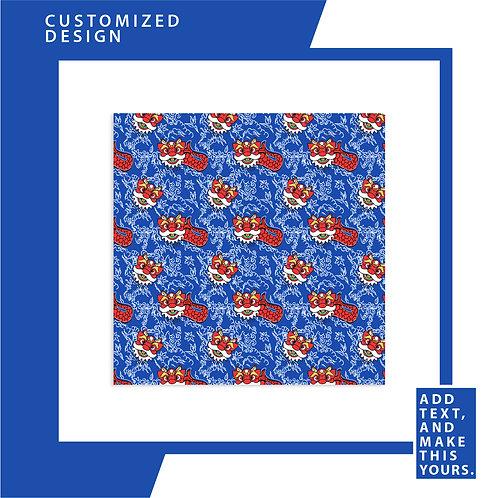 Blue Diamond Merlion Dance - Soft Chiffon Scarf