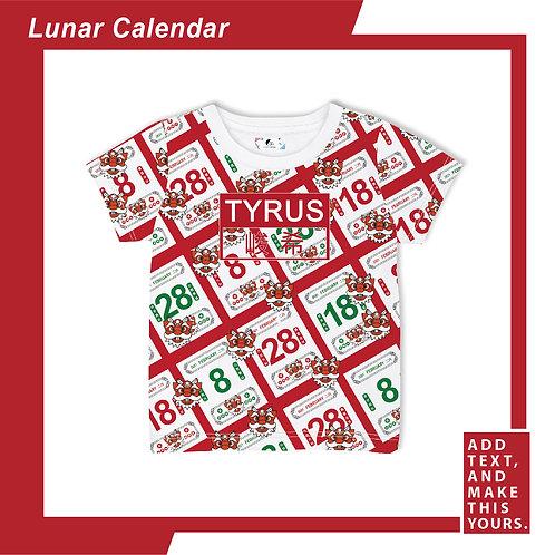 Lunar Calendar - T-shirt (Kid)  - Red