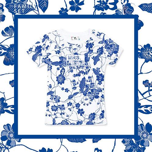 Blue & White Porcelain Adult T-shirt