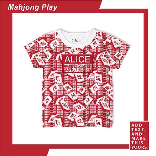 Mahjong Play - T-shirt (Kid)  - Red