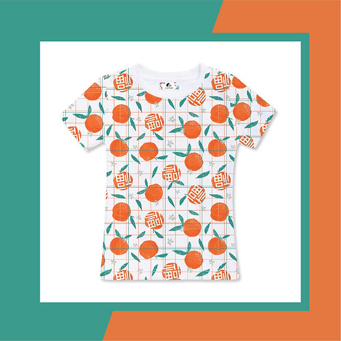 Full Mandarin Orange - Adult T-shirt (white)