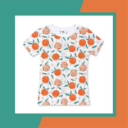 Full Mandarin Orange - Adult T-shirt (white)