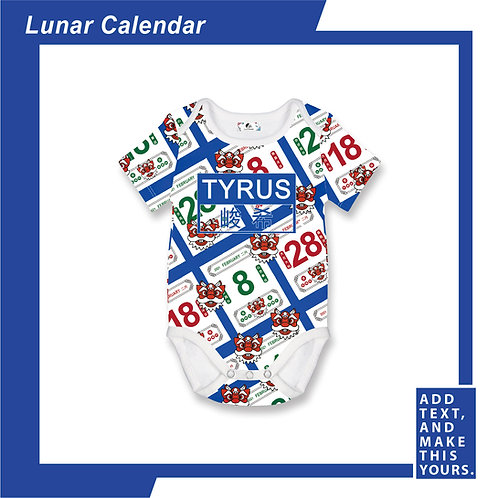 Lunar Calendar - Romper - Blue