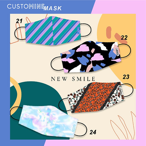 New Smile - Personalized Cloth Face Mask (Pack of 2 / Pack of 3)