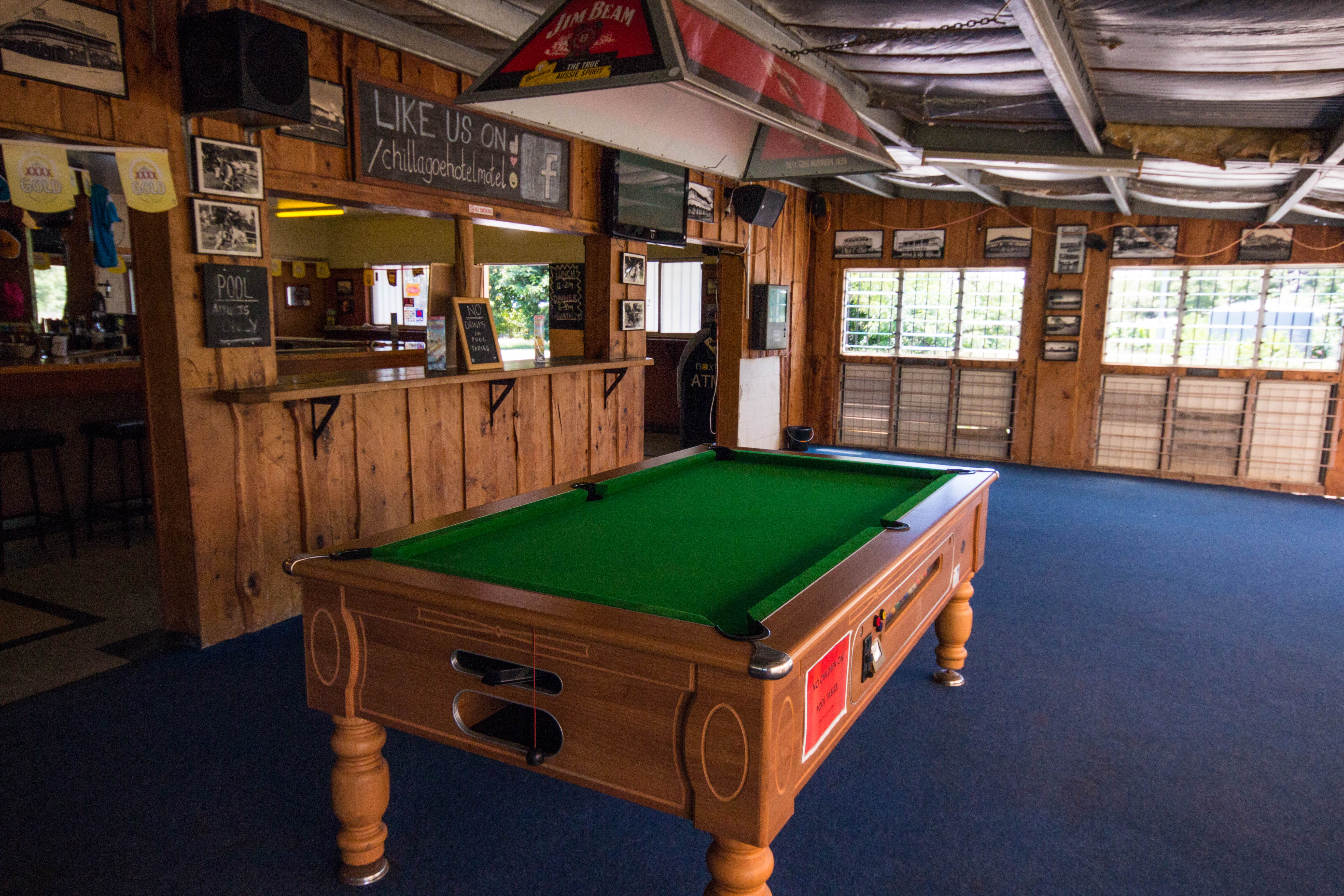 Pool Table, Chillagoe Cockatoo Hotel