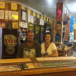 Kev and Suzie are the managers of the Chillagoe Cockatoo Hotel Motel