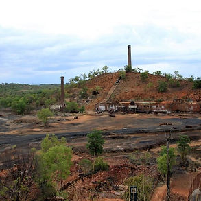 Remnants of the Chillagoe Smelter. It is a heritage listed site.