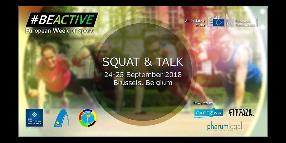 #BEACTIVE squat & talk