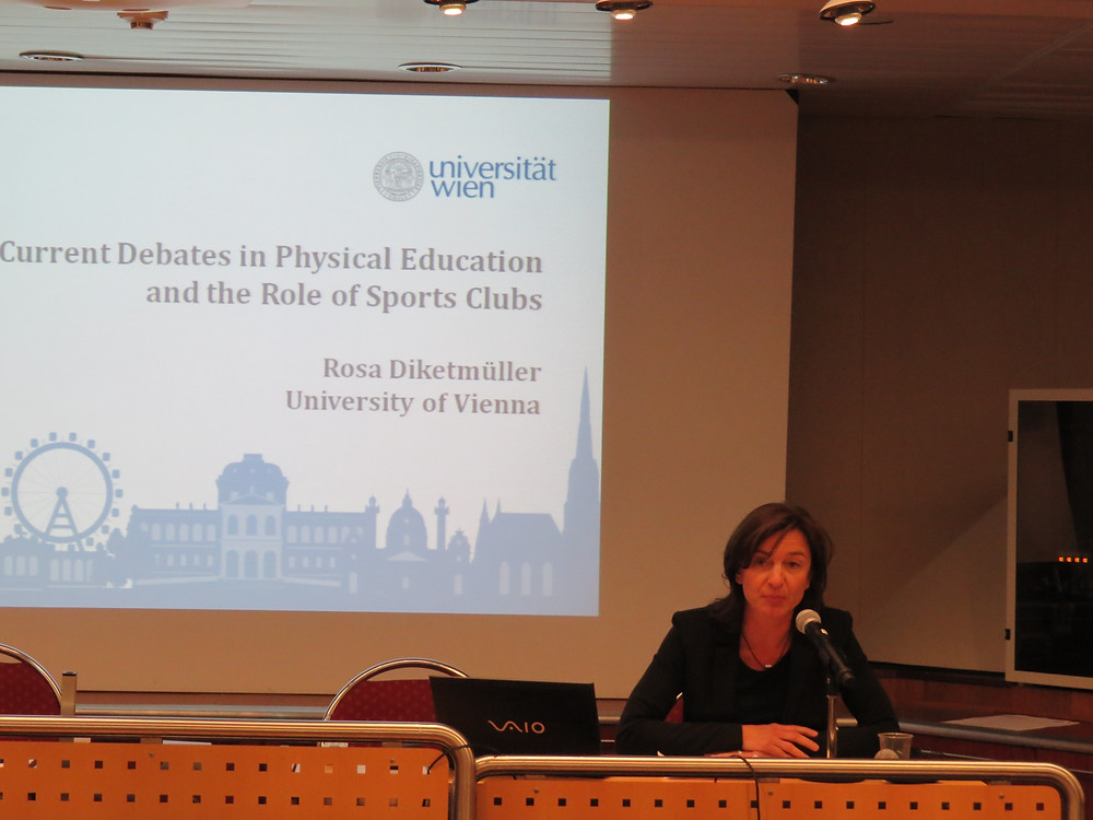 Rosa Diketmller from the University of Vienna gave an update on the PE situation in Europe. Photo: Andrej Pisl©