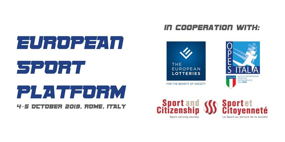 European Sport Platform 2019