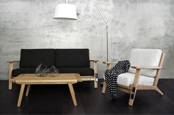 北歐風客廳 北歐沙發 北歐茶几 復刻托勒密立燈 Ash 實木沙發 梣木