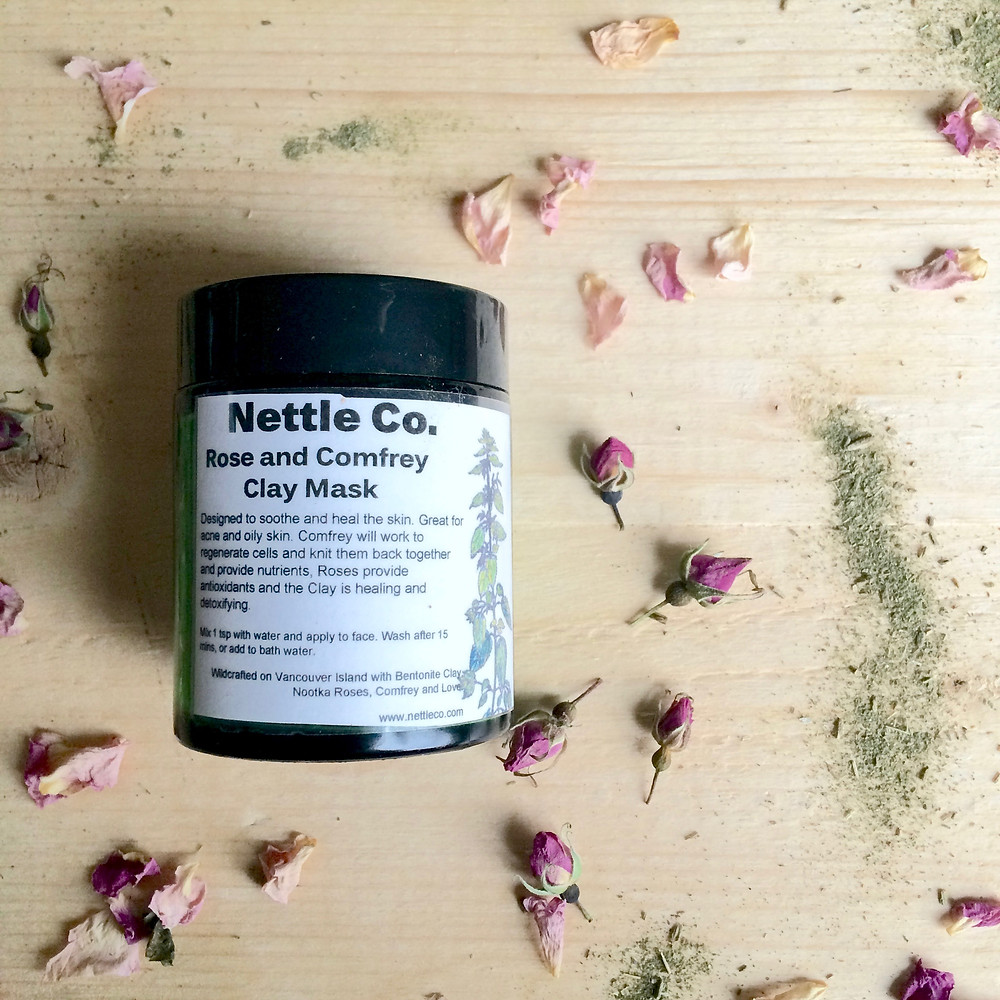 Rose and Comfrey Clay Face Mask