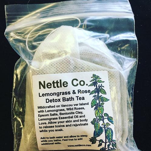 Lemongrass & Rose Detox Bath Tea