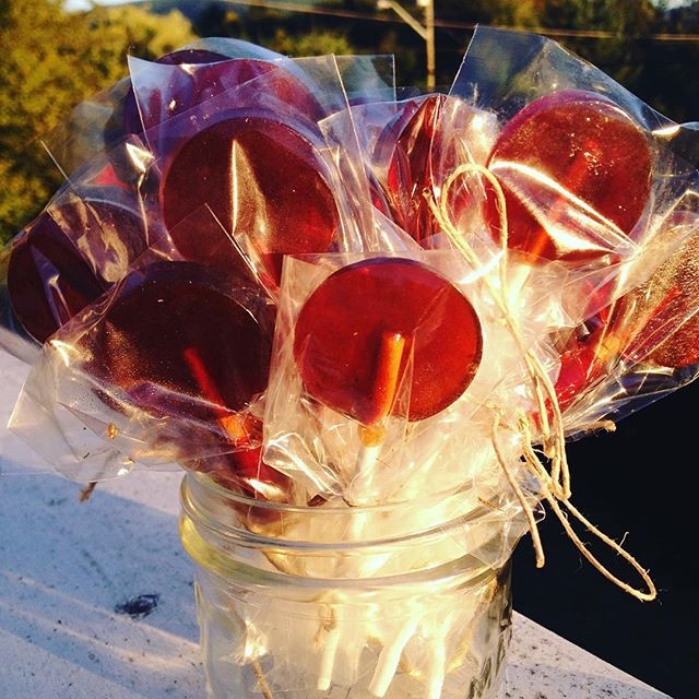 Herb and Honey Lollipops