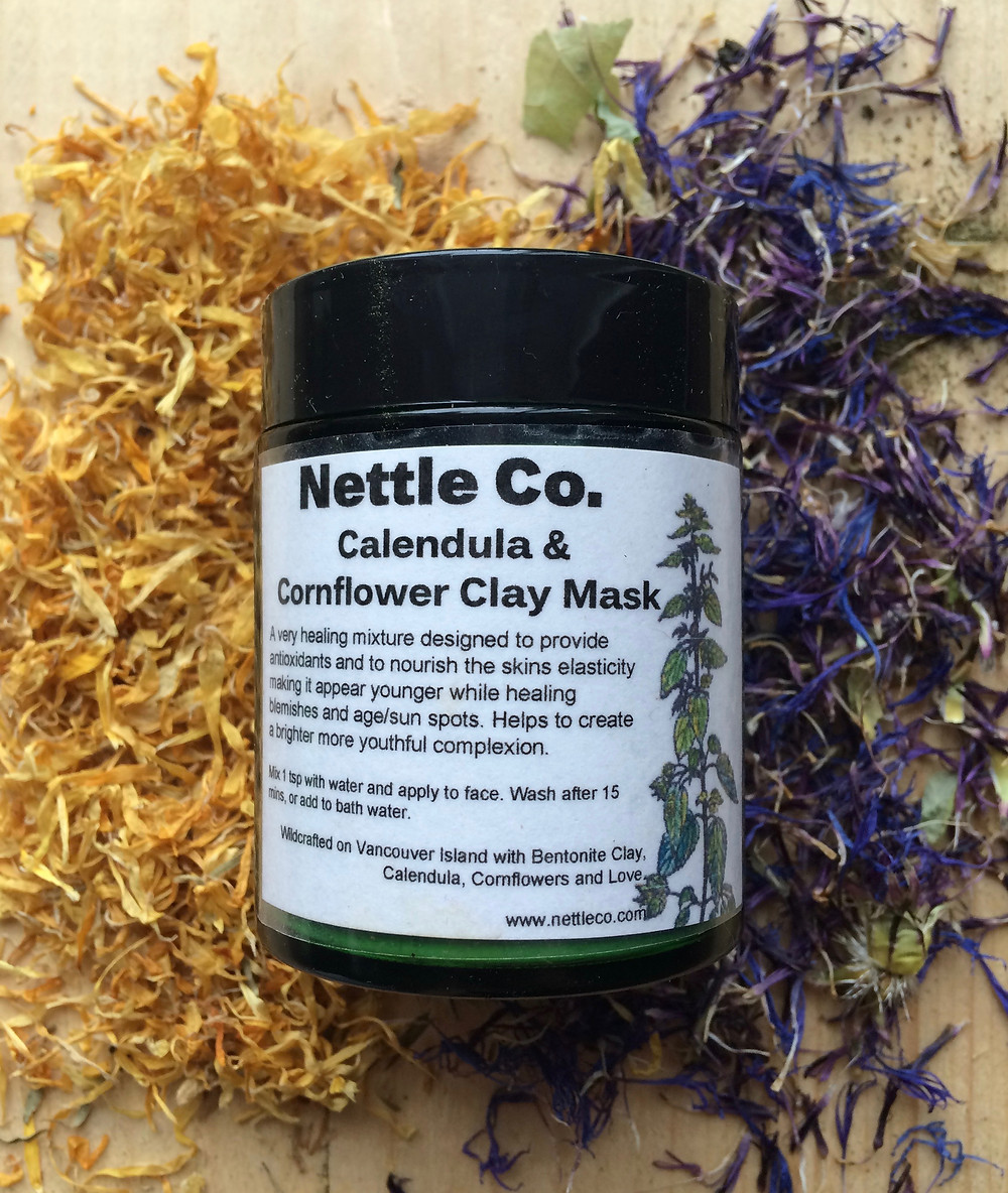 Calendula & Cornflower Clay Face Mask