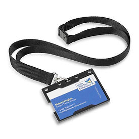 SOS Fob ID Badge Holder With Card With S