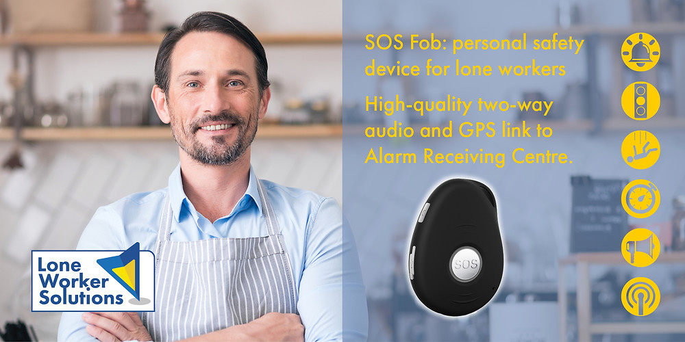 SOS Fob the discreet and durable personal tracking alarm
