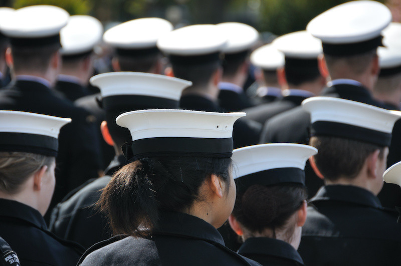 Sea cadets on parade