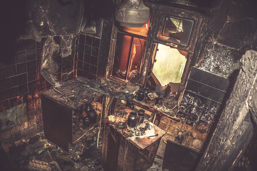 fire damage cleaning through React