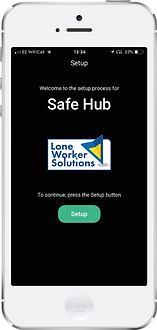 Safe Hub Lone Worker App Welcome screen