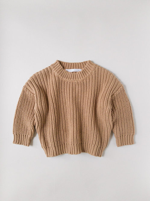 Kids of April - Chunky sweater toffee