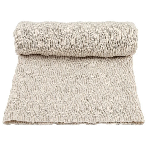 Konges sløjd - Blanket pointelle off-white