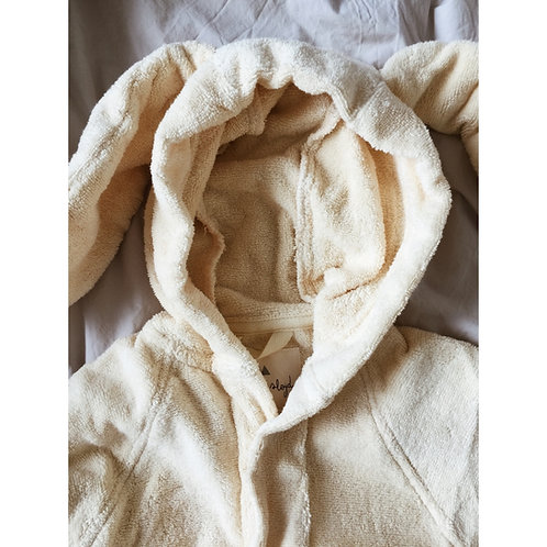Konges sløjd - Kids Terry bathrobe off-white