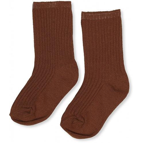 Konges sløjd - Hisao socks rib Deux caramel