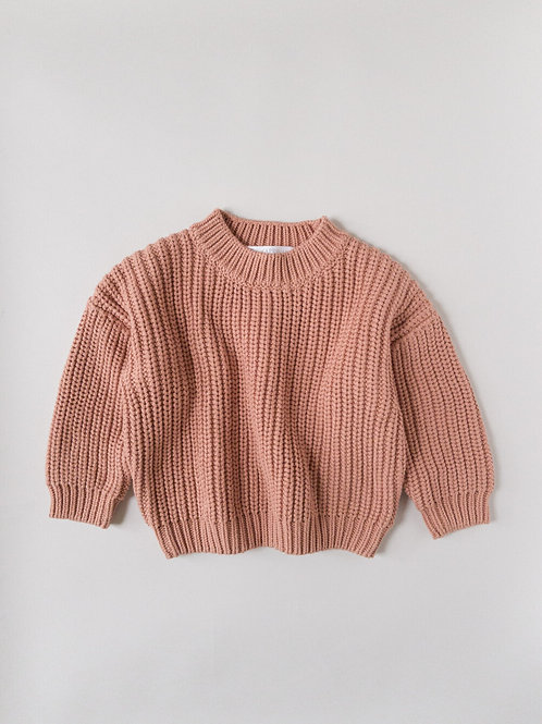 Kids of April - Chunky sweater terracotta