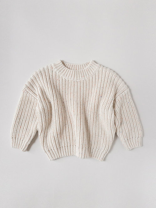 Kids of April - Rainbow speckle chunky sweater naturel
