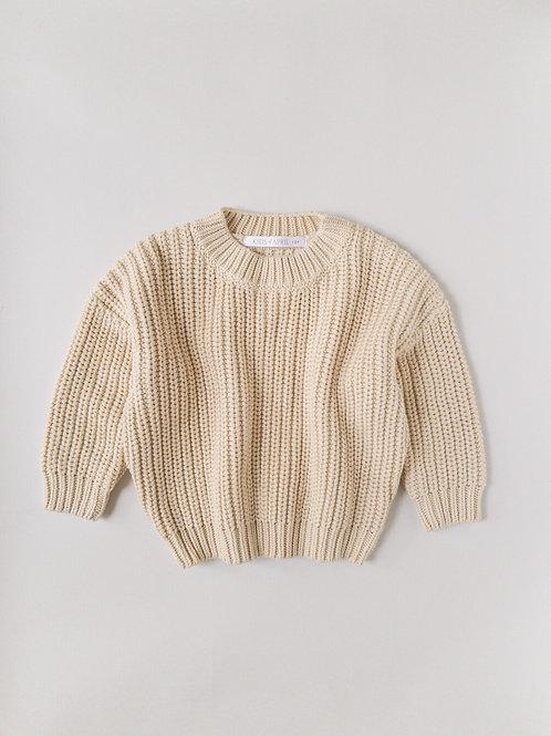 Kids of April - Chunky sweater almond