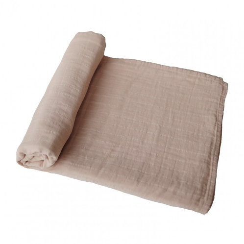 Mushie - Swaddle XL Pale taupe