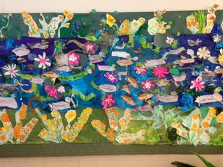 First Grade Wetlands Community Mural.