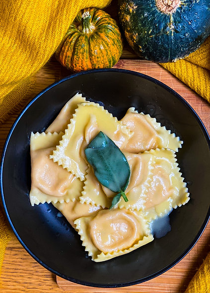 Ravioli pumpkin and ricotta