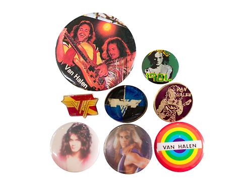 1980's Van Halen (1984 Album Era) 8 Button Set